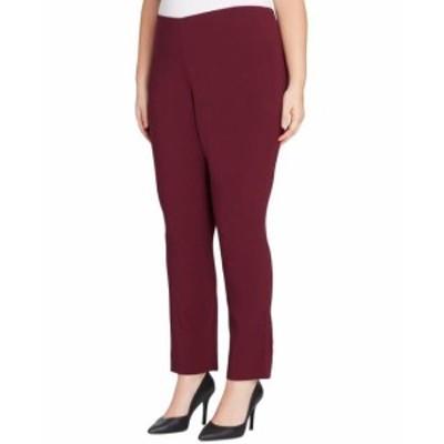 Tahari タハリ ファッション パンツ Tahari By ASL NEW Red Womens Size 14W Plus Stretch Dress Pants