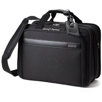 【カバンのセレクション】 バーマス ディグリー ビジネスバッグ メンズ A4 ノートPC 拡張 出張 自立 大容量 2WAY BERMAS 60466 ユニセックス ブラック フリー Bag&Luggage SELECTION