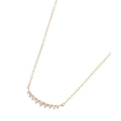 COCOSHNIK / ココシュニック ダイヤモンド グラデーションアーチ ネックレス