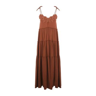 シーバイクロエ SEE BY CHLOÉ ロングワンピース&ドレス ココア 34 コットン 100% ロングワンピース&ドレス