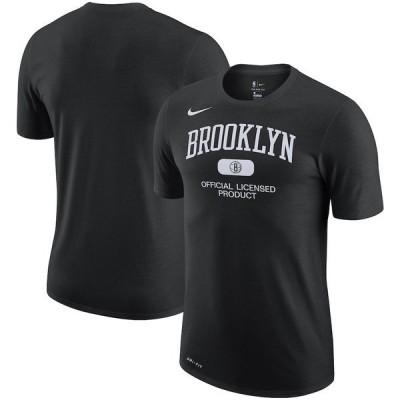 ナイキ メンズ Tシャツ トップス Brooklyn Nets Nike Essential Heritage Performance T-Shirt Black