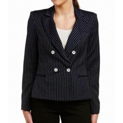 ファッション 衣類 Abs By Allen Schwartz NEW Navy Blue Pinstriped Small PS Petite Jacket