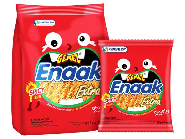 韓國 ENAAK~韓式小雞麵 辣味(增量袋裝28gx3包)【D004469】