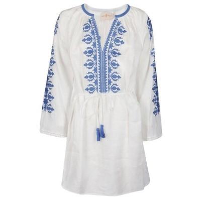 トリーバーチ レディース ワンピース トップス Tory Burch Embroidered Mini Dress -