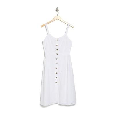 アールディスタイル レディース ワンピース トップス Eyelet Lace Button Down Dress WHITE