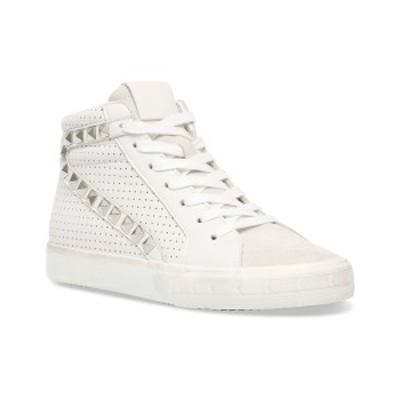 スティーブ マデン レディース スニーカー シューズ Women's Tracey Studded High-Top Sneakers White