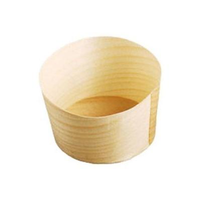 ヤマコー QKY2602 経木容器丸型(100枚入)(23912 中)