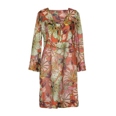 MALÌPARMI ミニワンピース&ドレス オレンジ 44 56% ラミー 44% コットン ミニワンピース&ドレス