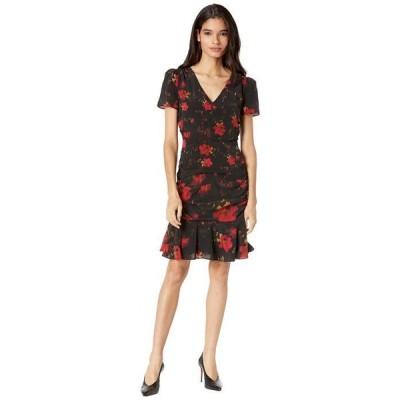 ミリー レディース ワンピース トップス Pam Brushed Floral Print Silk Dress