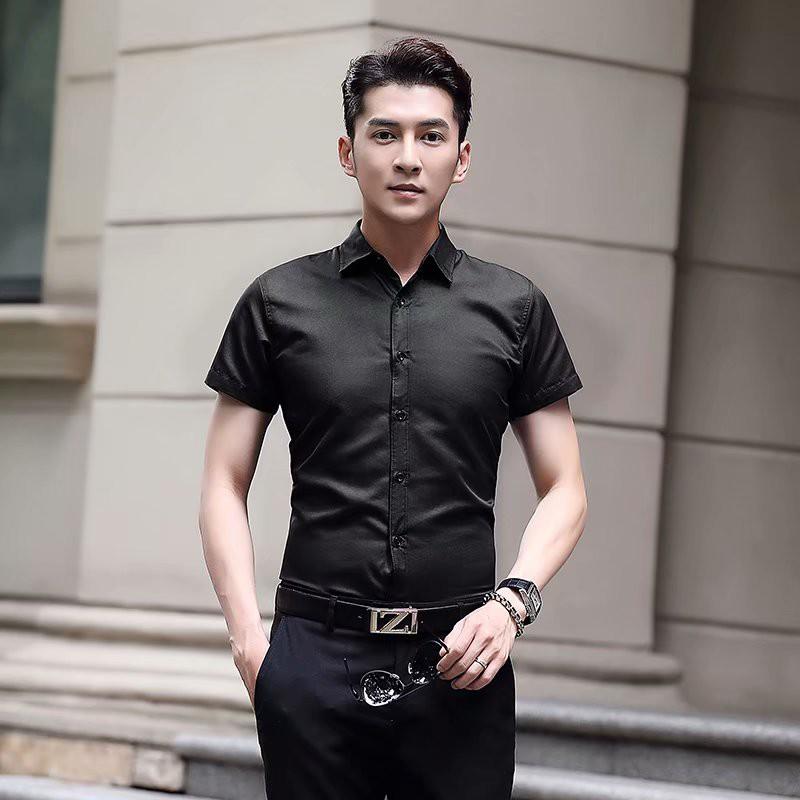 韓版短袖襯衫S-5XL(6色)大尺碼上班襯衫 商務襯衫 素色襯衫 男襯衫 工作襯衫(PR9991))【壹號站】