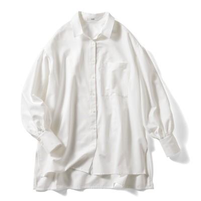 UVカット&防汚加工! クレバー素材のこだわりロングシャツ〈オフホワイト〉 IEDIT[イディット] フェリシモ FELISSIMO