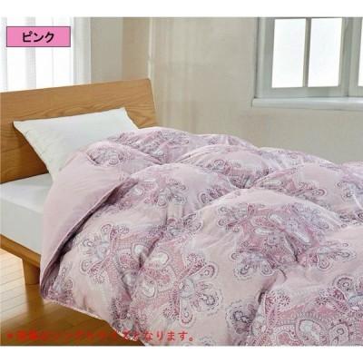 ギフト プレゼント 洗える羽毛ふとん ダブルサイズ ピンク ダウン 寒さ対策 秋 冬 睡眠 洗濯 暖かい 寝具 健康 ゆったり