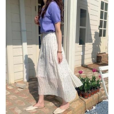 monodaily レディース スカート Tulip pleated skirt