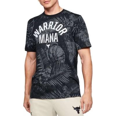 アンダーアーマー Under Armour メンズ Tシャツ トップス Project Rock Aloha Camo Warrior Mana Graphic T-Shirt BLACK/SUMMIT WHITE