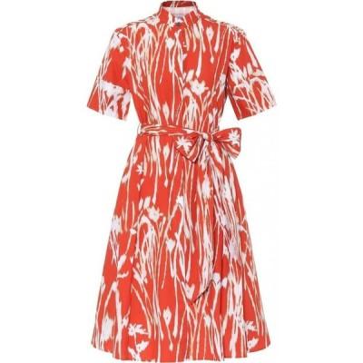 サルヴァトーレ フェラガモ Salvatore Ferragamo レディース ワンピース ワンピース・ドレス Printed cotton dress Orange