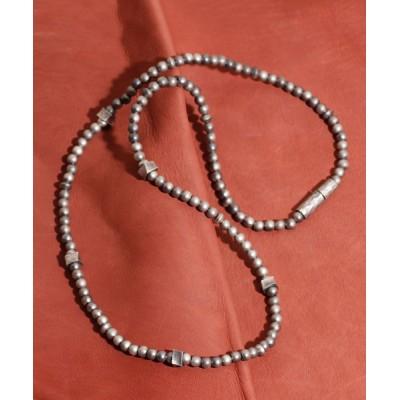 ability / GILD / ギルド / Frosted processing twist beads necklace short フロスティド プローセシング ツイスト ビーズ ネックレス ショート / G171-NE04-SHORT MEN アクセサリー > ネックレス