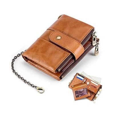 VECHOO 財布 二つ折り メンズ 小銭入れ 牛革 大容量 取り外し可能なカードケース レザー コイン ウォレットカー