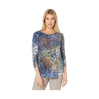 Karen Kane カレンケーン レディース 女性用 ファッション ブラウス Tie-Dye Burnout Shirttail Tee - Tie-Dye