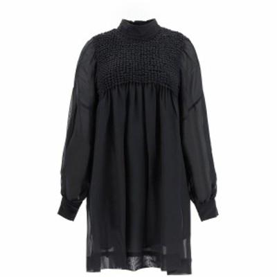 GANNI/ガニー ドレス PHANTOM Ganni chiffon mini dress レディース 秋冬2020 F5203 ik