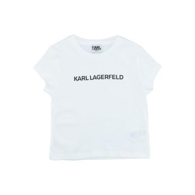 カールラガーフェルド KARL LAGERFELD T シャツ ホワイト 3 コットン 100% T シャツ
