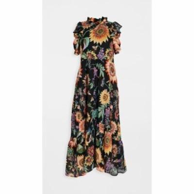 バンジャナン Banjanan レディース ワンピース ワンピース・ドレス hana dress Mid Summer Bumble Black