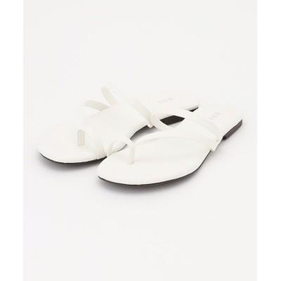 【ICB】 Flat Sandals サンダル(番号CM24) レディース ホワイト M ICB