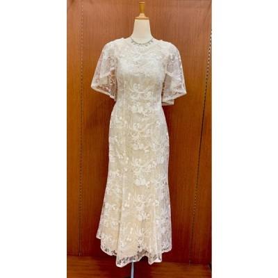 アイボリー カラオケドレス 8156 ロングドレス カラードレス 発表会 舞台衣装 ステージ衣装 パーティー イベント カトレヤ
