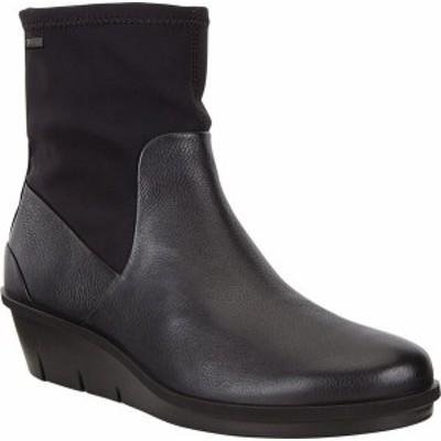 エコー レディース ブーツ・レインブーツ シューズ Skyler GORE-TEX Ankle Boot Black/Black Cow Leather/Textile