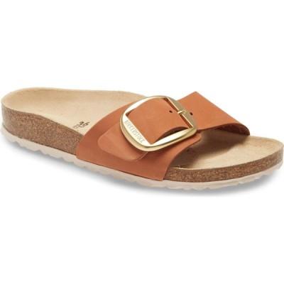 ビルケンシュトック BIRKENSTOCK レディース サンダル・ミュール スライドサンダル シューズ・靴 Madrid Hex Slide Sandal Brandy Nubuck Leather
