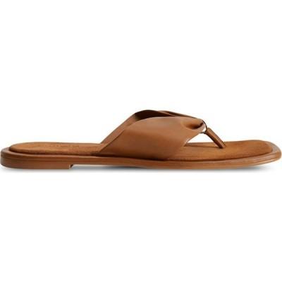 マンゴ Violeta By Mango レディース サンダル・ミュール シューズ・靴 Leather Sandals Medium Brown