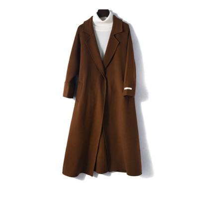 ベルト付き チェスターコート オープンコート コート シンプル ゆったり袖 可愛い 上品 着回し カジュアル ロングコート ミディアム丈 防寒 激安 冬