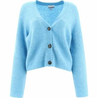 ガニー Ganni レディース カーディガン トップス Soft Wool Cardigan Light Blue