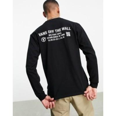 バンズ メンズ シャツ トップス Vans Quick Response long sleeve t-shirt in black Black
