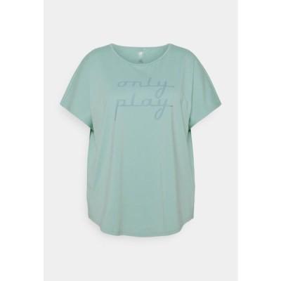 レディース スポーツ用品 ONPFUDIE LOOSE TRAIN TEE - Basic T-shirt - gray mist/darker gray mist