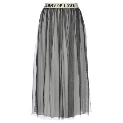 DV Roma 7分丈スカート ブラック XS レーヨン 50% / ナイロン 50% 7分丈スカート