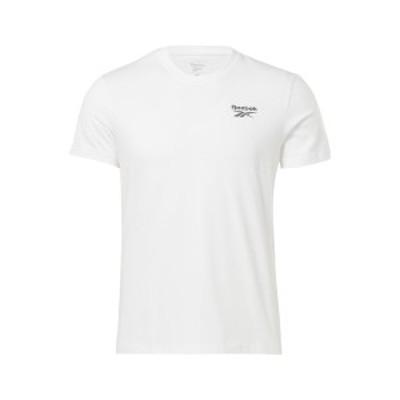 リーボック メンズ Tシャツ トップス CLASSIC SMALL LOGO ELEMENTS - Basic T-shirt - white white