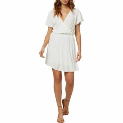 オニール ONEILL レディース ワンピース ワンピース・ドレス Nolita Embroidered Neckline Minidress Winter White