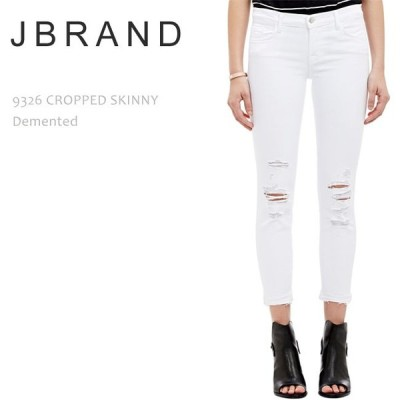 【SALE】【20%OFF】J Brand ジェイブランド 9326 LOW-RISE CROPPED SKINNY Demented ホワイトスキニー