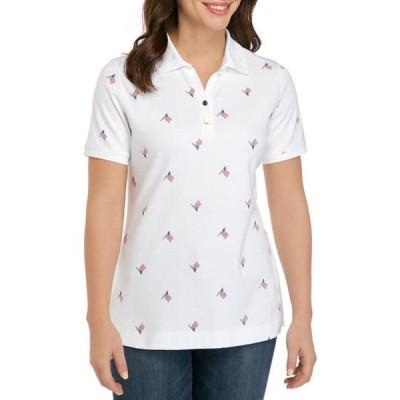キム ロジャース レディース シャツ トップス Women's Perfectly Soft Short Sleeve Polo Shirt