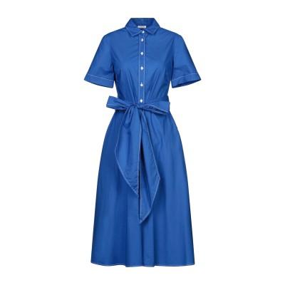 パロッシュ P.A.R.O.S.H. 7分丈ワンピース・ドレス ブルー XS コットン 100% 7分丈ワンピース・ドレス
