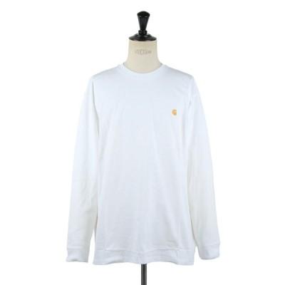 カーハート WIP メンズ L/S CHASE T-SHIRT ホワイト / ゴールド (I026392) 【正規取扱店】
