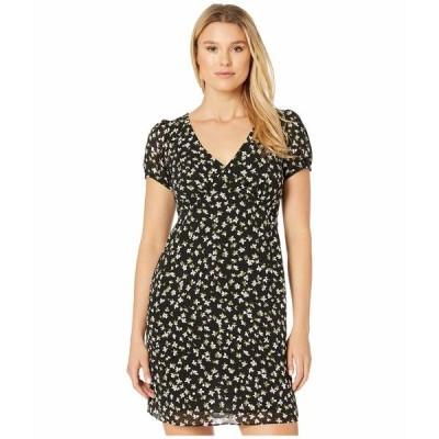 マイケルコース ワンピース トップス レディース Tossed Lilies V-Neck Dress Black/Evergreen