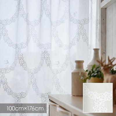 Disney シアーカーテン MICKEY ミッキー Flower wreath / フラワーリース 100×176cm (メーカー直送品)
