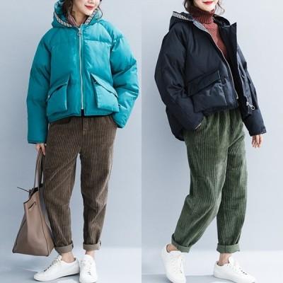 ダウンコート レディース アウター ジャケット ダウン ブラック ブルー ブルゾン 中綿 フード カジュアル Good Clothes