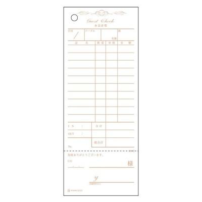 勘定書付 デザインお会計票製本式 アンティーク 2101(100枚×20冊)単式
