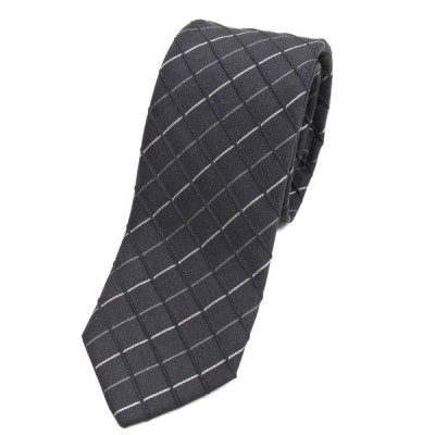 ナッソー NASSOW ネクタイ ブラック×ホワイト×グレー