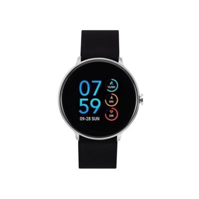 アイ タッチ 腕時計 アクセサリー レディース Unisex Sport Silver-Tone Case with Black Strap Smart Watch 43mm Black