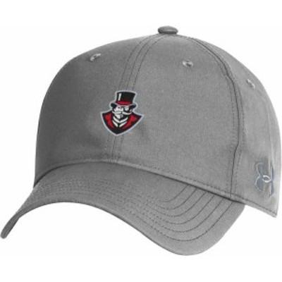 アンダーアーマー メンズ 帽子 アクセサリー Under Armour Men's Austin Peay Governors Grey Performance 2.0 Adjustable Hat