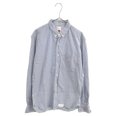 marka(マーカ)14AW REGULAR COLLAR SHIRTS STRIPE POPLIN 胸ポケット ストライプ柄長袖シャツ U14C-14SH01C