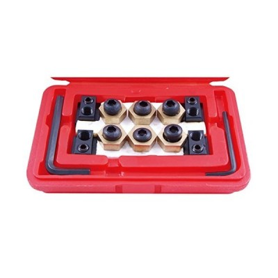 """HHIP 3900-0318 Steel 4-Piece T-Slot Clamping Nut Kit, 5/8"""""""
